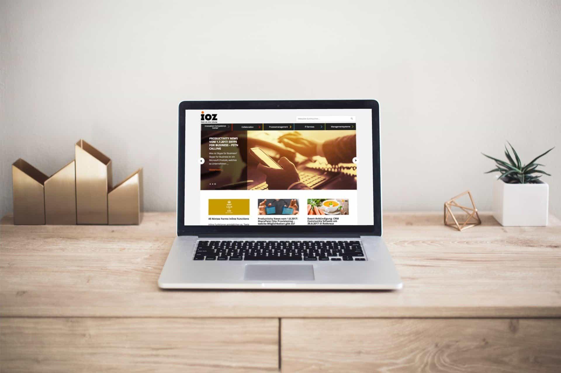 Mockup WordPress Blog für die IOZ AG