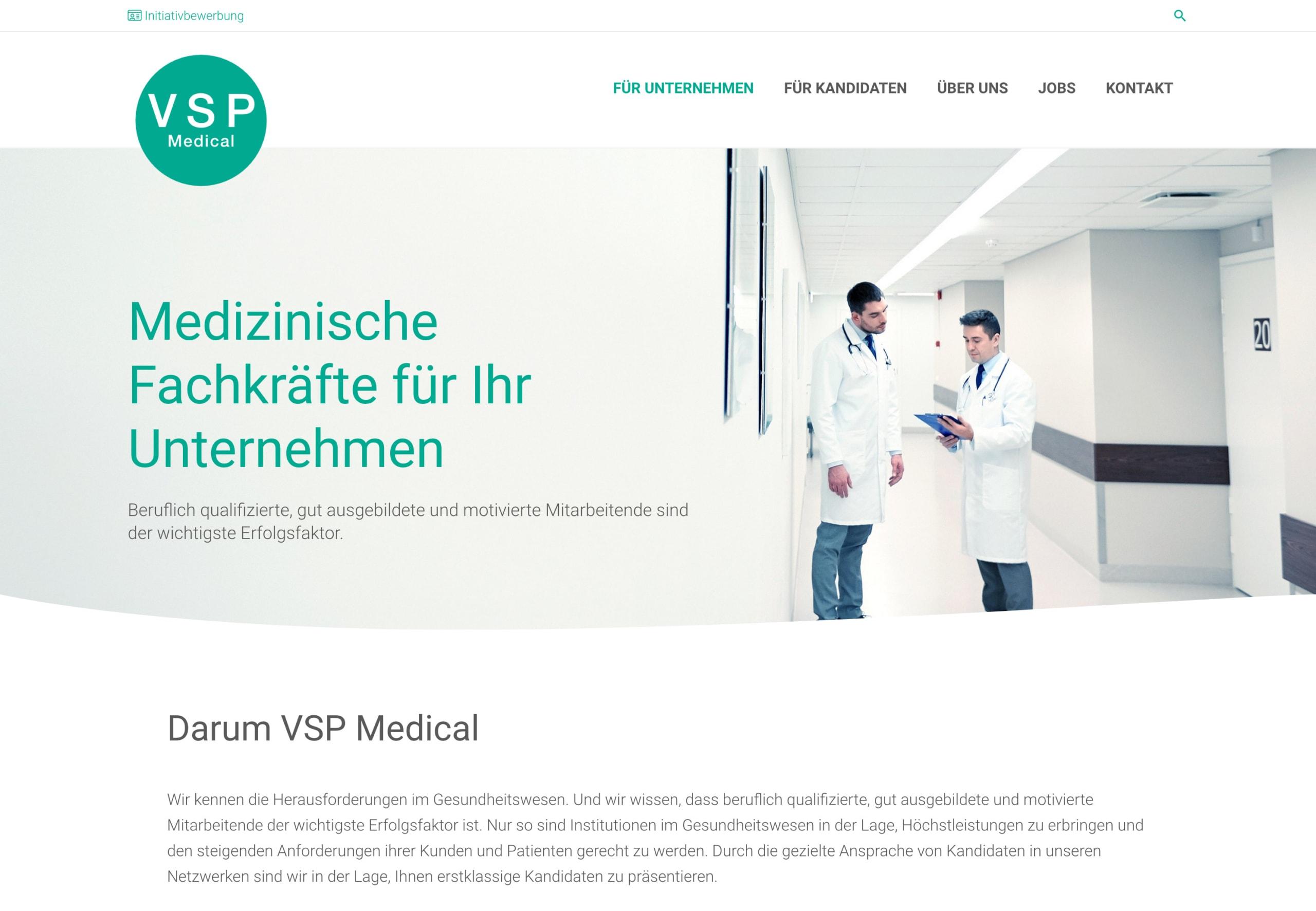 Screenshot 2021 02 08 Medizinische Fachkräfte Für Ihr Unternehmen Vsp Medical