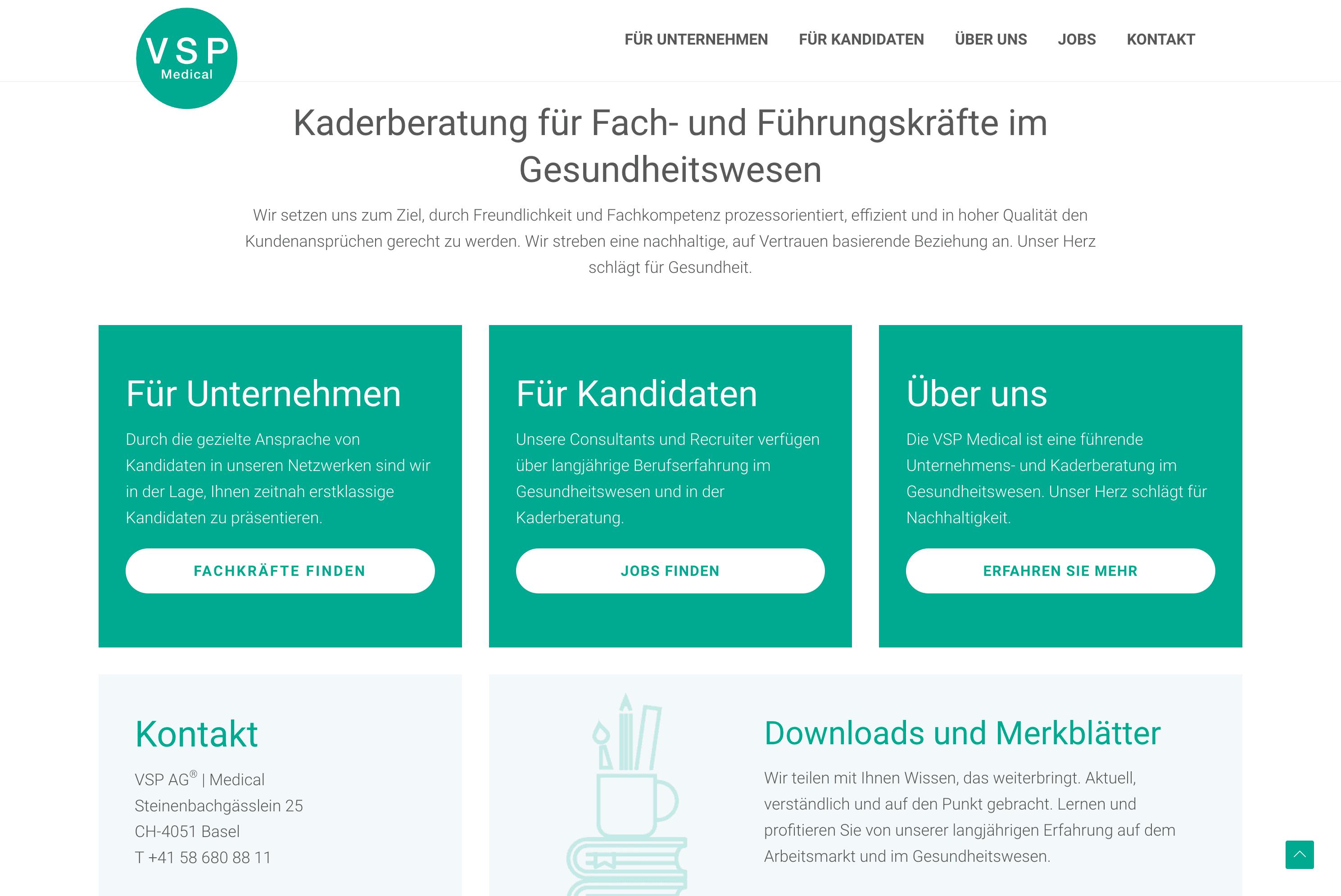 Screenshot 2021 02 08 Vsp Medical – Unternehmens Und Kaderberatung